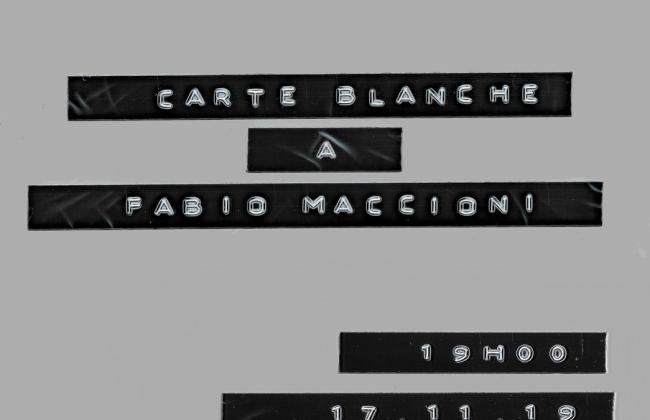 CARTE BLANCHE à Fabio - Spectacle d'improvisation