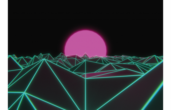 VHS Sunset