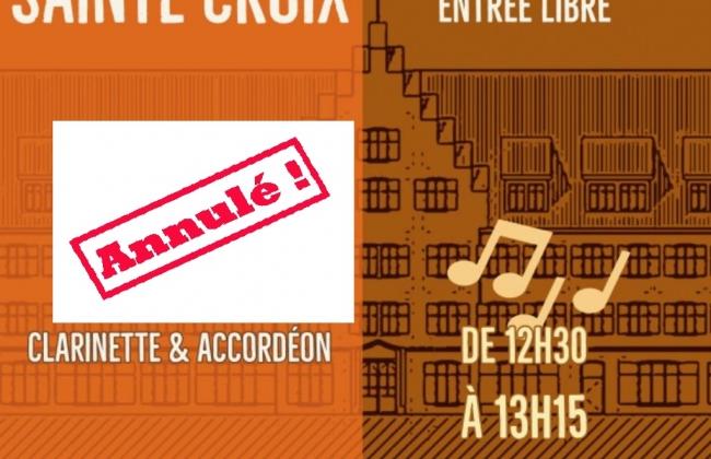 ANNULÉ - Midis de Sainte-Croix - Clarinette & Accordéon par Nathalie Jeandupeux et Sylvain Tissot et élèves