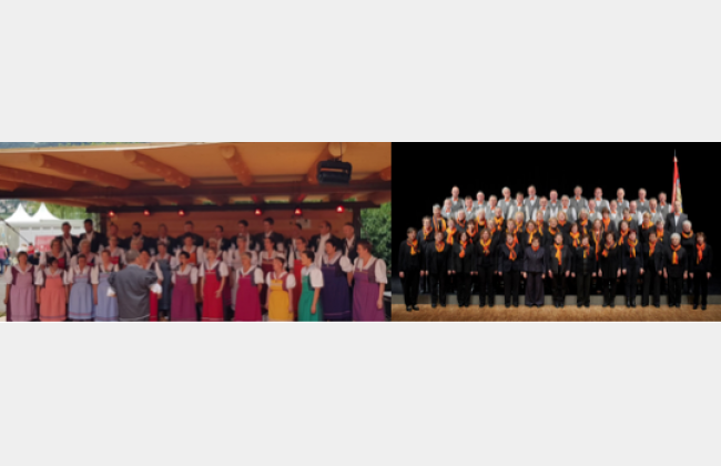 Groupe Choral Intyamon  . Cäcilienchor Düdingen   Concert du bilinguisme