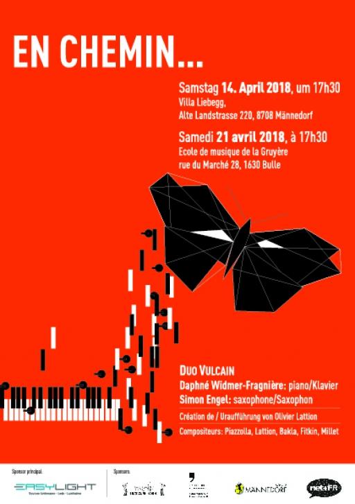 """En Chemin..."" Concert du ""Duo Vulcain"" saxophone et piano"