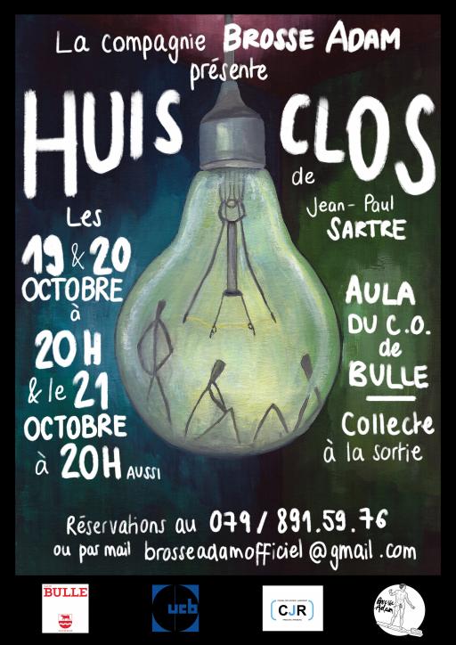 """""""Huis Clos"""" de Sartre, par la compagnie Brosse Adam"""
