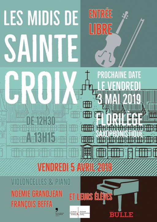 Les Midis de Ste-Croix à la chapelle de Ste-Croix - Violoncelle et Piano (Noémie Grandjean & François Beffa et leurs élèves)