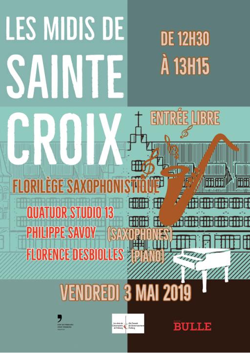 Les Midis de Ste-Croix à la chapelle de Ste-Croix - Florilège Saxophonistique (Philippe Savoy & Florence Desbiolles)