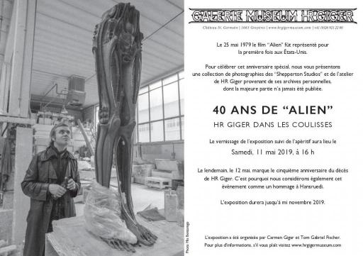 """""""40 ans d'Alien, HR Giger dans les coulisses"""""""