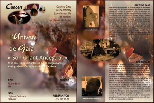 """L' Univers de Gaia, """"un Chant Ancestral"""""""