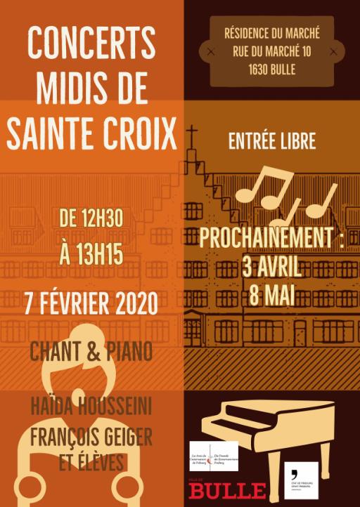 Midis de Sainte-Croix - Chant & Piano Haïda Housseini et François Geiger et élèves