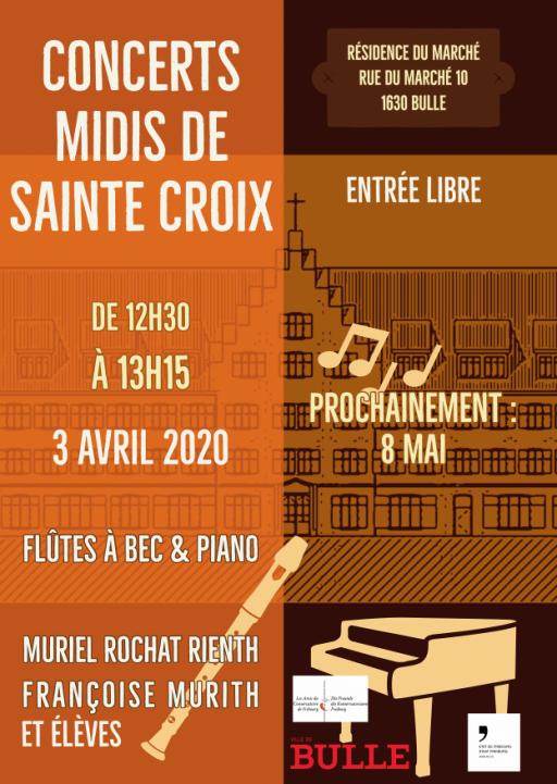 Midis de Sainte-Croix - Flûtes à bec & Piano par Muriel Rochat Rienth et Françoise Murith et élèves
