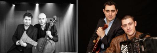 Duo Rythmosis, flûte de Pan et violoncelle & Duo Bouclier, violon et accordéon