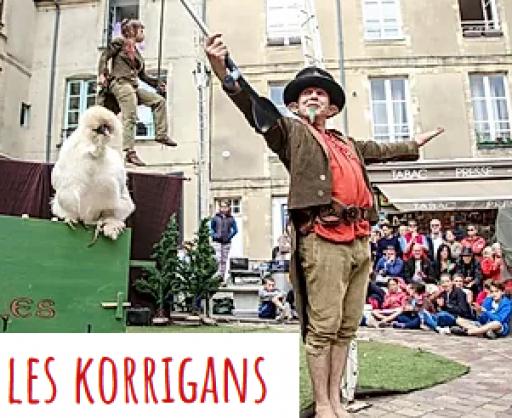 Les Korrigans - cirque, dressage de poules