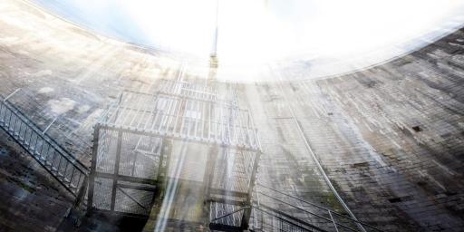 Mur blanc #06 Montsalvens | De l'électricité dans l'eau | Elise Heuberger, Michel Roggo